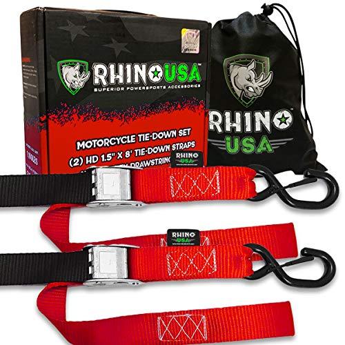 "Ratchet Straps Tie Down Straps 4pcs 1500lbs Break Strength 500 Lbs Load Cap Ergonomic Rubber Grips /& Coated Deep Hooks 4pcs 1/""x 12/""Loop Strap /& 2pcs 32/'/' Bungee Cord 1/""x 15/'tie Down Strap"
