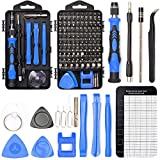 Precision Screwdriver Set Magnetic - Mini 124 in1 Professional Screw driver Tools Sets PC Repair Kit for Mobile Phone Tablet Computer Watch Camera Eyeglasses Electronic Devices DIY Hand Work (BLUE)