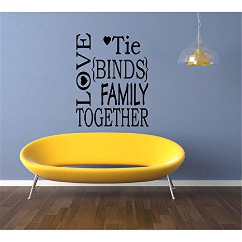 Wandaufkleber Zitate Decals Decor Vinyl Art Sticker Liebe Krawatte Binds Familie zusammen