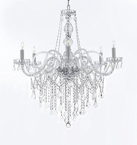 "Murano Venetian Style All-Crystal Chandelier Chandeliers H38"" X W32"""
