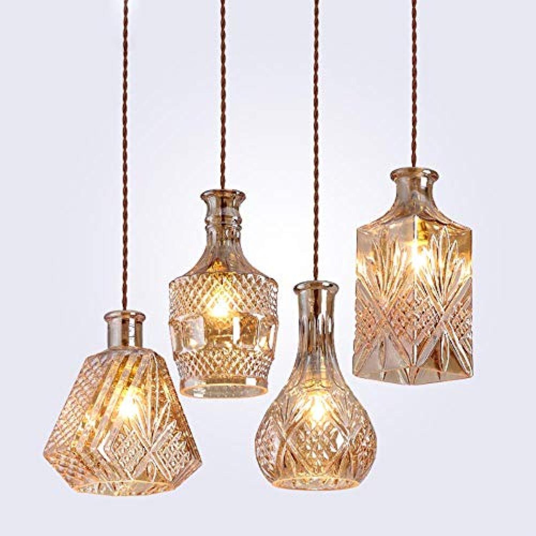 Moderne Minimalist Vintage-Weinflasche Pendelleuchten CafeRoom Bar Lampe Einzelglaspendelleuchten Dekoration Innenbeleuchtung E27, Transparent A