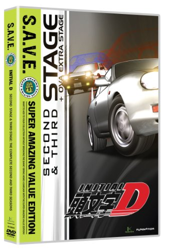 Initial D: Stage Two & Stage Three - Save (4pc) [DVD] [Region 1] [NTSC] [US Import]