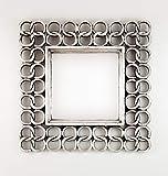 Rococo Espejo Decorativo de Madera Gold Chaine Square de 50x50cm en Plata...