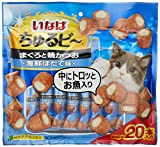 いなば 猫用おやつ ちゅるビ~ まぐろと焼かつお 海鮮ほたて味 10g×20本入