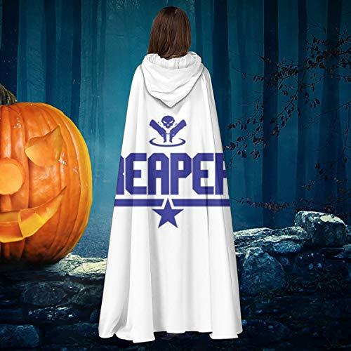 AISFGBJ Topgun Reaper Ov-erwatch Unisex Navidad Halloween Bruja Caballero con capucha tnica Vampiros Capa Cosplay Disfraz