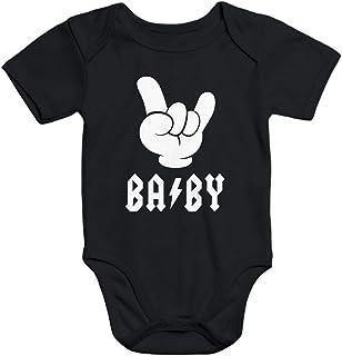 MoonWorks Kurzarm Baby Body Baby Hardrock Heavy Metal Bio-Baumwolle