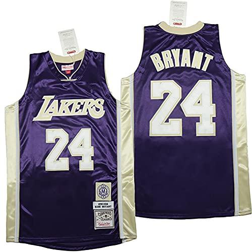 LGLE Camiseta de baloncesto para hombre, Lakers # 24, sin mangas, chaleco deportivo para fanático, camiseta de baloncesto transpirable, resistente al desgaste, secado rápido, morado, 5XL
