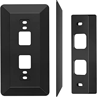 Wall Plate Come with L35°/R35 ° Wedge Compatible With Eufy Battery Video Doorbell 2K HD Resolution (Battery -Powerd), Plas...