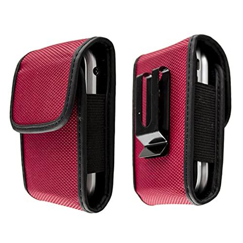 caseroxx Nylon Tasche mit Gürtelclip für Ihr Doro Handy, passend für 2404, 2424, 6030, 6040, 6041, 6060, 6061, 6520, 6530, 6620, 6621, Primo 418 in schwarz