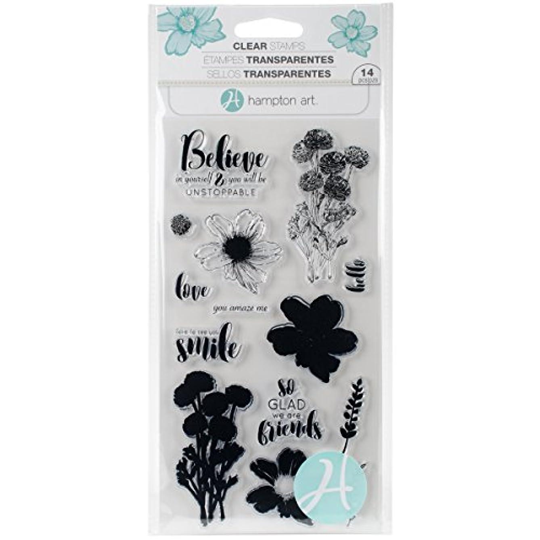 Hampton Art Flower Believe Clear Stamps Layer FlwrBelieve