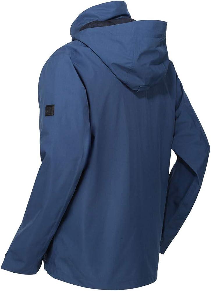 Regatta Mens Shrigley Waterproof Breathable Taped Seams Multiple Pockets Hooded 3-in-1 Jacket Jacket