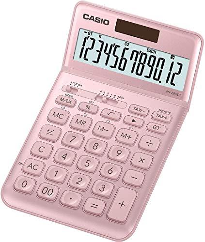 CASIO JW-200SC-PK - Calculadora, 1.1 x 10.9 x 18.4 cm, color rosa