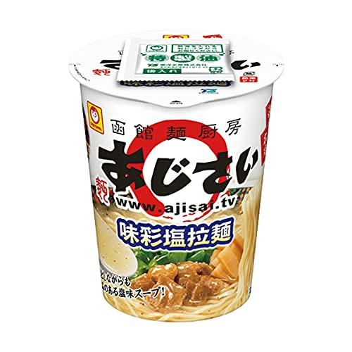 【販路限定品】東洋水産 函館麺厨房 あじさい 味彩塩拉麺 93g×12個