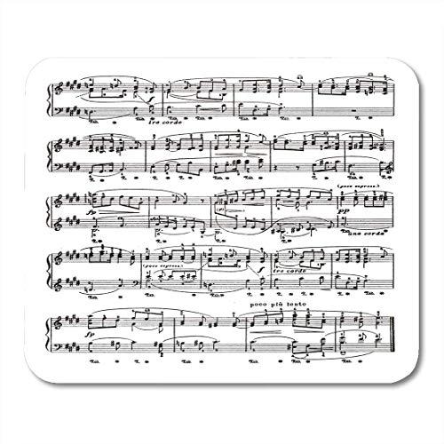 VVGETE Mouse Pad Spartito Spartito Pagina Nota Vecchio Pianoforte Compositore Opera Tavolo Rettangolare Resistente Tappetino per Mouse Tappetino per Mouse Tappetini per Mouse Tastiera da