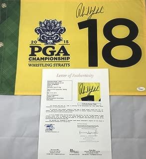 PHIL MICKELSON SIGNED 2015 PGA CHAMPIONSHIP FLAG WHISTLING STRAITS PROOF JSA K63