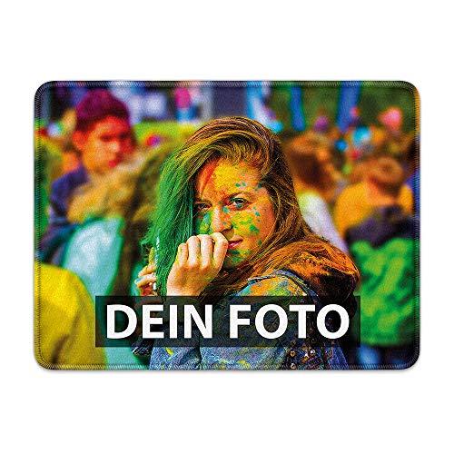 Fußmatte zum selbst Gestalten/mit eigenem Foto Bedrucken Lassen/Schmutzfang-Matte/Fuß-abtreter/Teppich/Gekettelt 80 x 60 cm