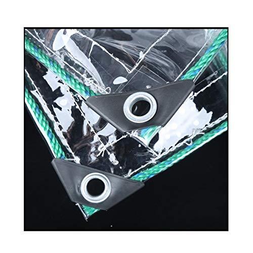 LJIANW-lonas impermeables exterior, Vaso Transparente Lona Impermeable, 0.3 Mm Engrosado Paño Impermeable Muy Transparente Cubierta del Pabellón PVC Blando por Flores Cubierta Protectora