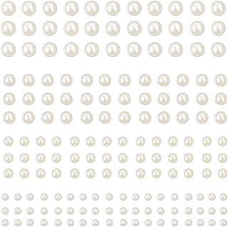 Perle Autocollante 990Pcs Perle Blanche Perles Rondes perles pour bijoux pour téléphone portable,maquillage,bracelet,loisi...