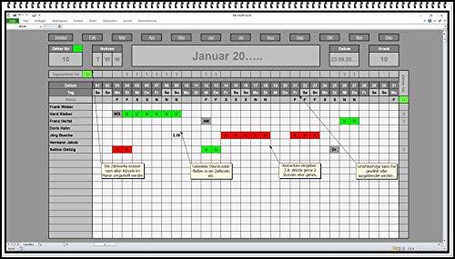 Urlaubsplaner Jahresplaner 2020 2021 usw. software App für alle Jahre keine Folgekosten Urlaubskalender Personalplaner Urlaubsplan Jahresübersicht Stundenkonto Excel