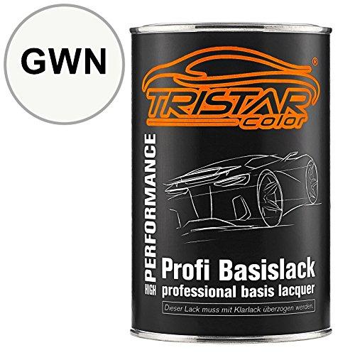 TRISTARcolor Autolack Dose spritzfertig für Datsun/Infiniti/Nissan GWN White Basislack 1,0 Liter 1000ml