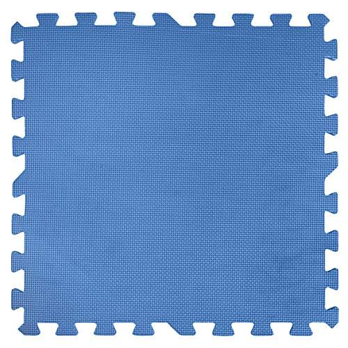 Gre MPF509P Protector de Suelo para Piscina, 9 Piezas, 8 mm de Grosor, Azul