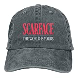 Yuanmeiju Gorra de Mezclilla Scarface Custom Embroidered Baseball Hat Personalized Casquette Adjustable Cowboy Cap