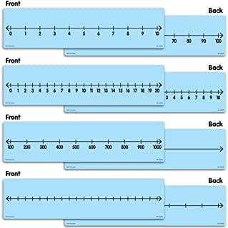 EAI Education Dry-Erase Student Whole Number Lines - 10 Sets of 4