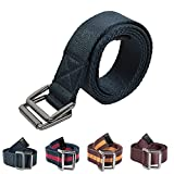 GREATOOL Cinturón Tela, Cinturón Mujer y Hombre, Moderno Cinturones, 3.5cm de ancho y 120cm de largo (Azul)