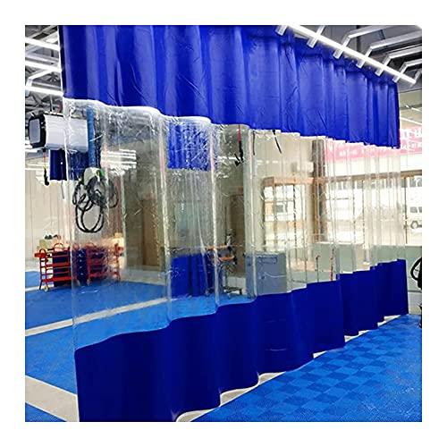 YAYADU-Storage Basket Cortina para Exteriores, Lona De Costura De 0,5 Mm, Gazebos, Cortinas para Balcón, PVC Transparente, Impermeable con Ojales, Personalizable (Color : Blue, Size : 2.5x5m)