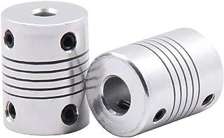 Xsentuals 2pcs 5 x 8mm Aluminium Flexible Coupling for Nema 17 Z Axis 3D Printer CNC DIY