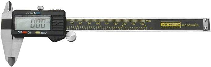Paquímetro Digital Starfer 150Mm Com Estojo Em Madeira