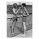 Vintage Poster Fotodruck Leinwand Wandkunst Tennis Frauen