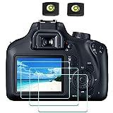 4000D Protezione Pellicola per Canon EOS 4000D 3000D, ULBTER Protettore schermo Vetro Temperato 0,3 mm Durezza 9H Antigraffio Anti-impronte Anti-acqua Anti-polvere Anti-bolle [3 pezzi]