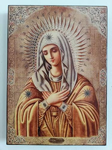 Artastate Icon of Holy Mary, Mother of Jesus Christ on Wood, Orthodox...