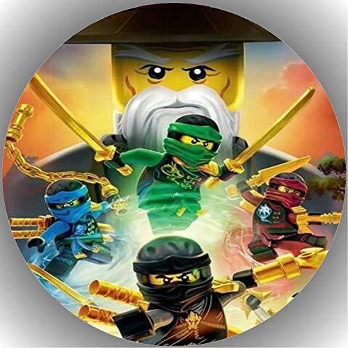 Fondant Tortenaufleger Tortenbild Geburtstag Kompatibel mit Ninjago L9
