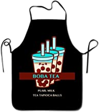 Dsiempwe Kitchen SuppliesBubble Boba Pearl Milk Tea Tapioca Balls Cooking Aprons Simple Cool Apron