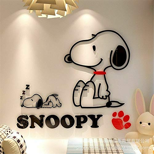 wandaufkleber 3d Wandtattoo Wohnzimmer Snoopy Cartoon Hund für Schlafzimmer Dekoration für Kinderzimmer Kinderzimmer
