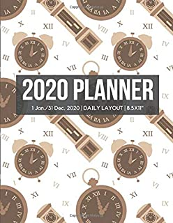 2020 Time Management Planner: Hourly Appointment Diary Agenda for Work with Notes & To Do List (Daily Hourly Layout - 1 Jan / 31 Dec - 8.5x11