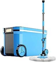 JUAN Microfiber Spin Mop,Bucket Floor Cleaning System,Hand Pressure Adjustable Dual Drive Household Blue Head (color : 2 m...