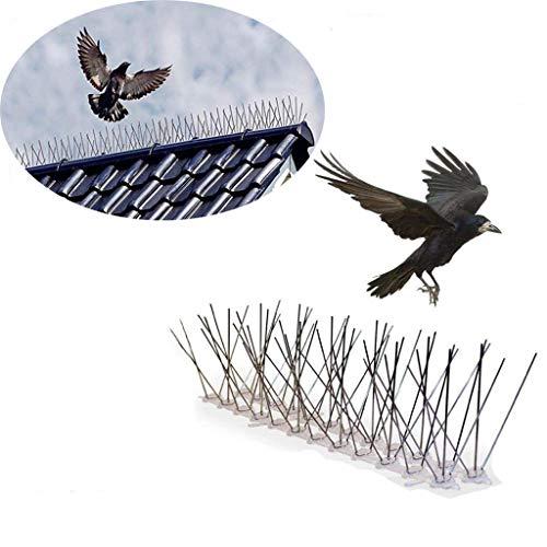 WGE 30cm/50CM RVS Vogelwerende Spikes, Kunststof Hek Spikes RVS Vogel Trap Duif Repeller Voor Duiven Uil Kleine Vogels Hek