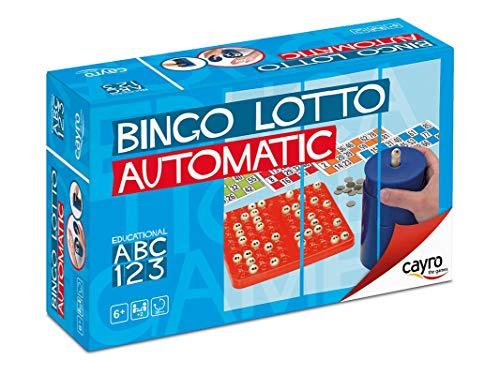 Cayro - Bingo automático - Juego Tradicional - Juego de plástico - Juego para niños y Adultos - Juego de Mesa (301)