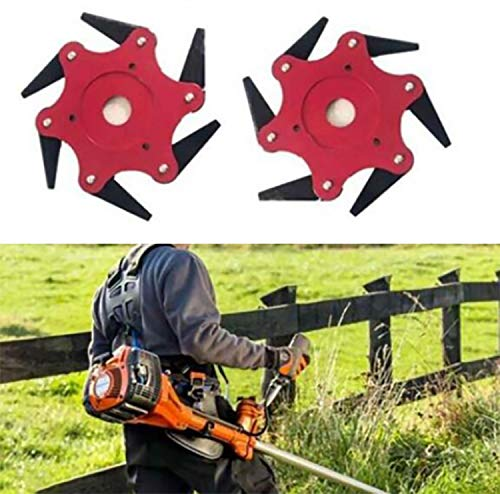 6 Steel Blade Razor 65Mn Gardening Lawn Mower Trimmer Head Lawn Mower Tool Cutter Trimmer Head...
