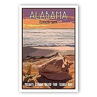 ALABAMA TRAVEL POSTER postcard set of 20 identical postcards. AL state vintage style travel poster post cards. Made in USA. [並行輸入品]