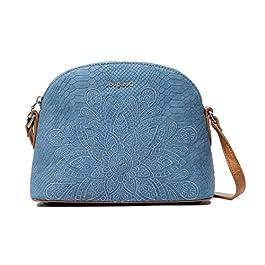 Desigual – Petit sac bandoulière ethnique femme en simili cuir (20saxpdw) taille 18,5 cm