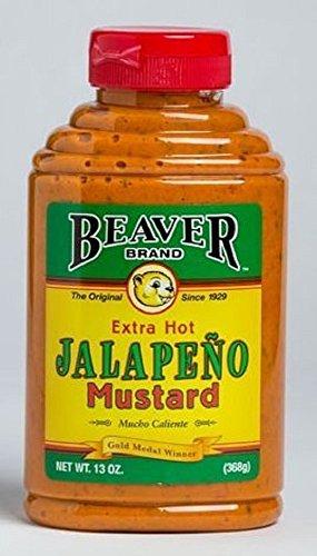 Beaver Brand 'Extra Hot Jalapeño' Mustard - 368g (13 oz)