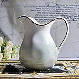SkadMan Jarra de Crema Creamer, de cerámica con Mango, café...