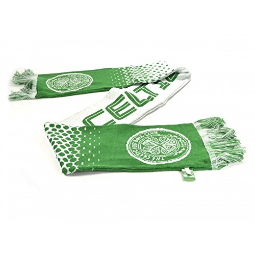 Celtic FC Official Soccer Fade Jacquard Scarf (One Size) (Green/White)