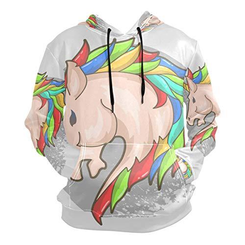 Arcoiris Caballo Unicornio Cabeza Sudadera con Capucha Hoodies Hombre Mujer 3D Impresión Sweatshirt Sudaderas Pullover para Niñas Niños