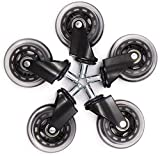 XZGDEN Superior 5 unids PU Wheels Castor Black Swivel Conjunto Diámetro 3 para Sala de Estar o Muebles de Oficina Mesa de Silla Trolley Dolly 360 Grados Rotación COMPONENTES MÓVILES