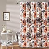 N / A Diseño Floral de baño Decorativo de Lujo diseño de Estampado de Flores Grandes La Cortina de Ducha de poliéster Impermeable contiene-W180cmxH180cm